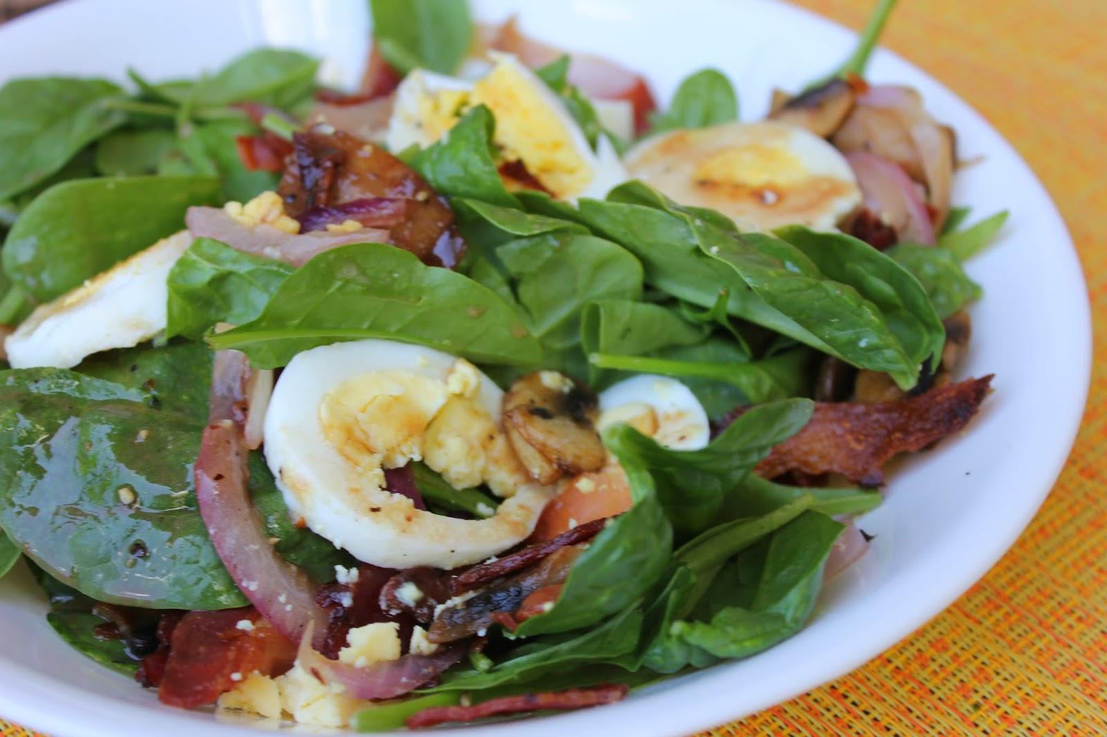 Recipe:  Salad, Recipe:  Vegetable, Recipe:  Side Dishes, Recipe:  Pork, Warm Spinach Bacon Salad, Pioneer Woman Recipe, Deals to Meals,