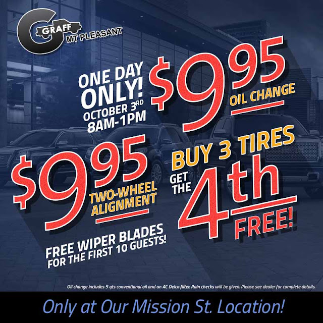 One Day Only Service Saturday at Graff Buick GMC Cadillac in Mt. Pleasant
