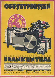 Werbung Schnellpresse © Int. Senefelder-Stiftung Offenbach