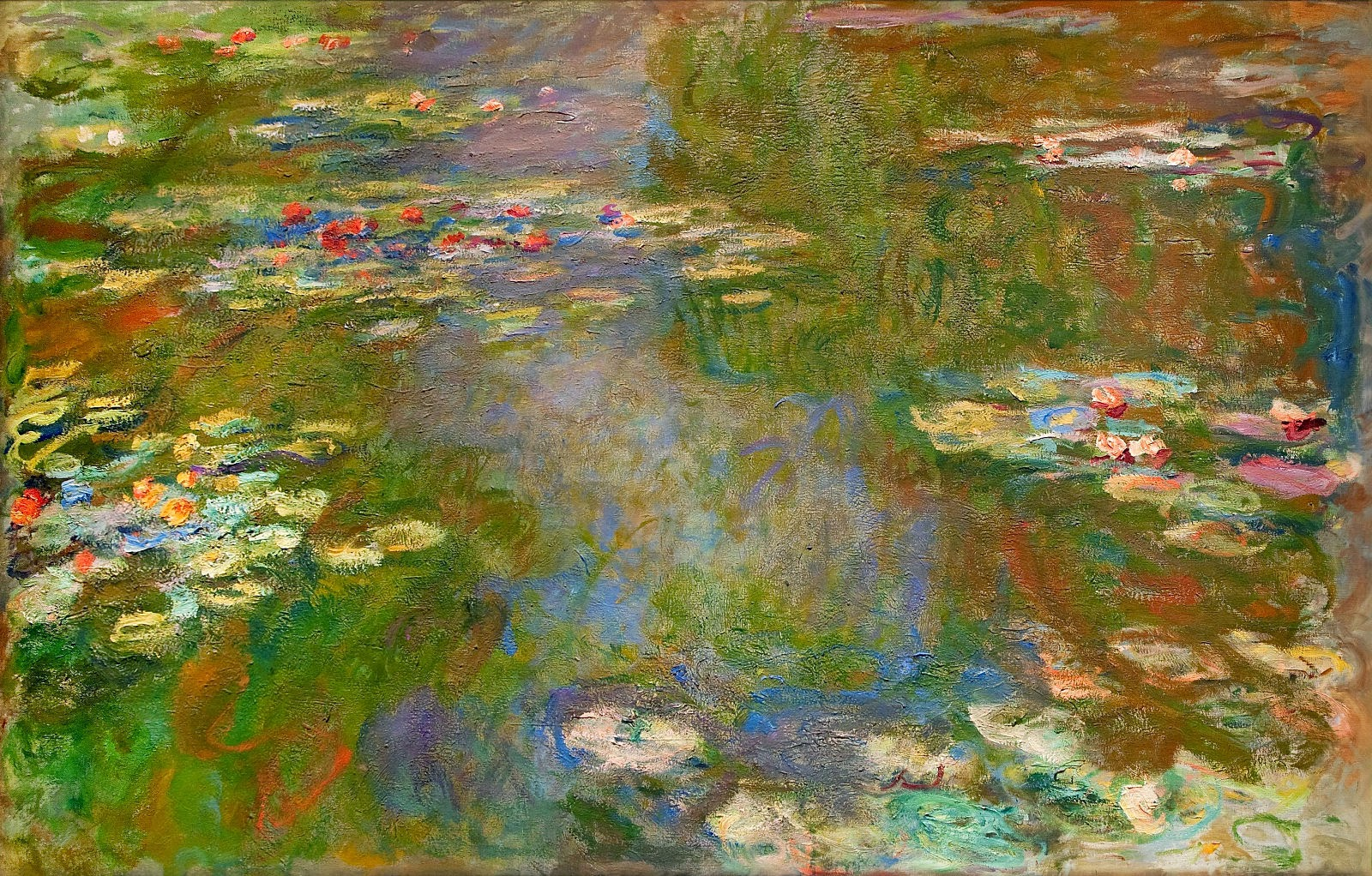 Art artists claude monet part 24 1897 1922 water lilies for Monet paintings images