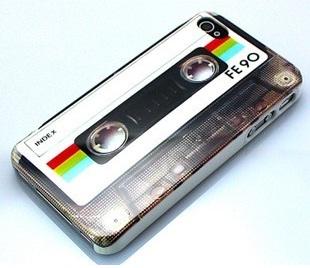 Retro Cassette Magnetic tape Design Hard Back Cover Case For iPhone 4 4G 4S