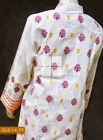 Gul Ahmed Embroidered Jacquard Kurta's 2014