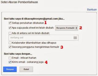 Setel Aturan Pemberitahuan di Google Docs