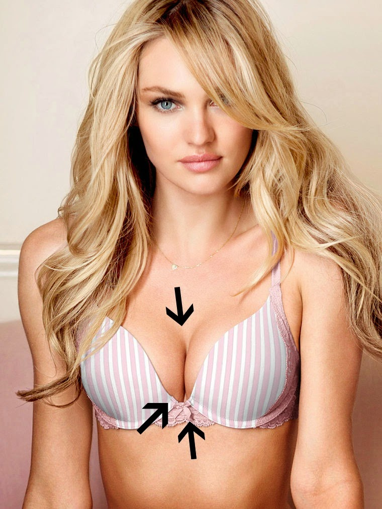 a thing as a push up bra   A Cup Victorias Secret Model