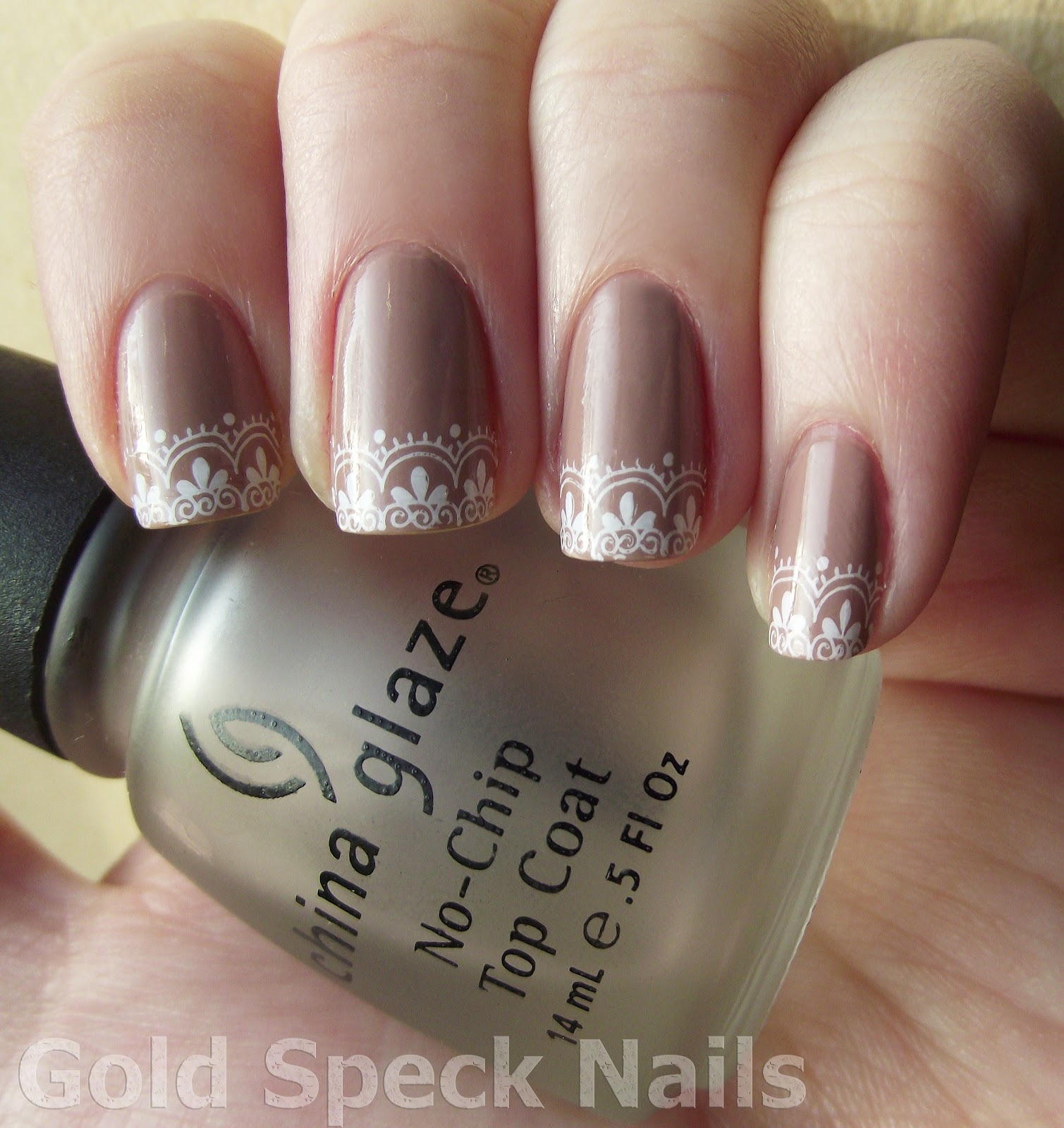 Gold Speck Nails: February 2012