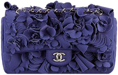CHANEL FLAP BAG IN NEOPRENE WITH CAMELLIAS