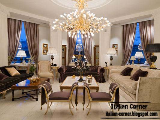 Classic living rooms with italian ideas and furniture for Italian living room ideas