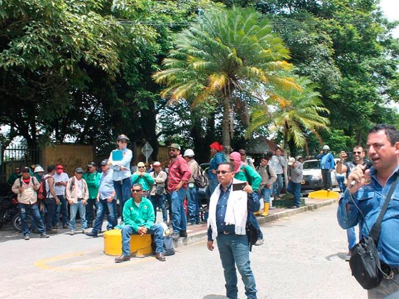 Dos semanas de protestas en obra de subestacion en Ecopetrol Meta