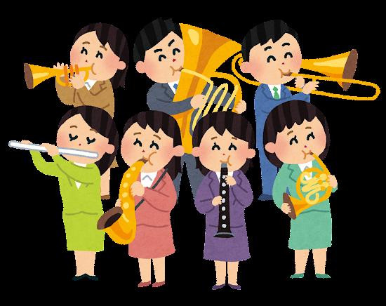 大人の吹奏楽のイラスト