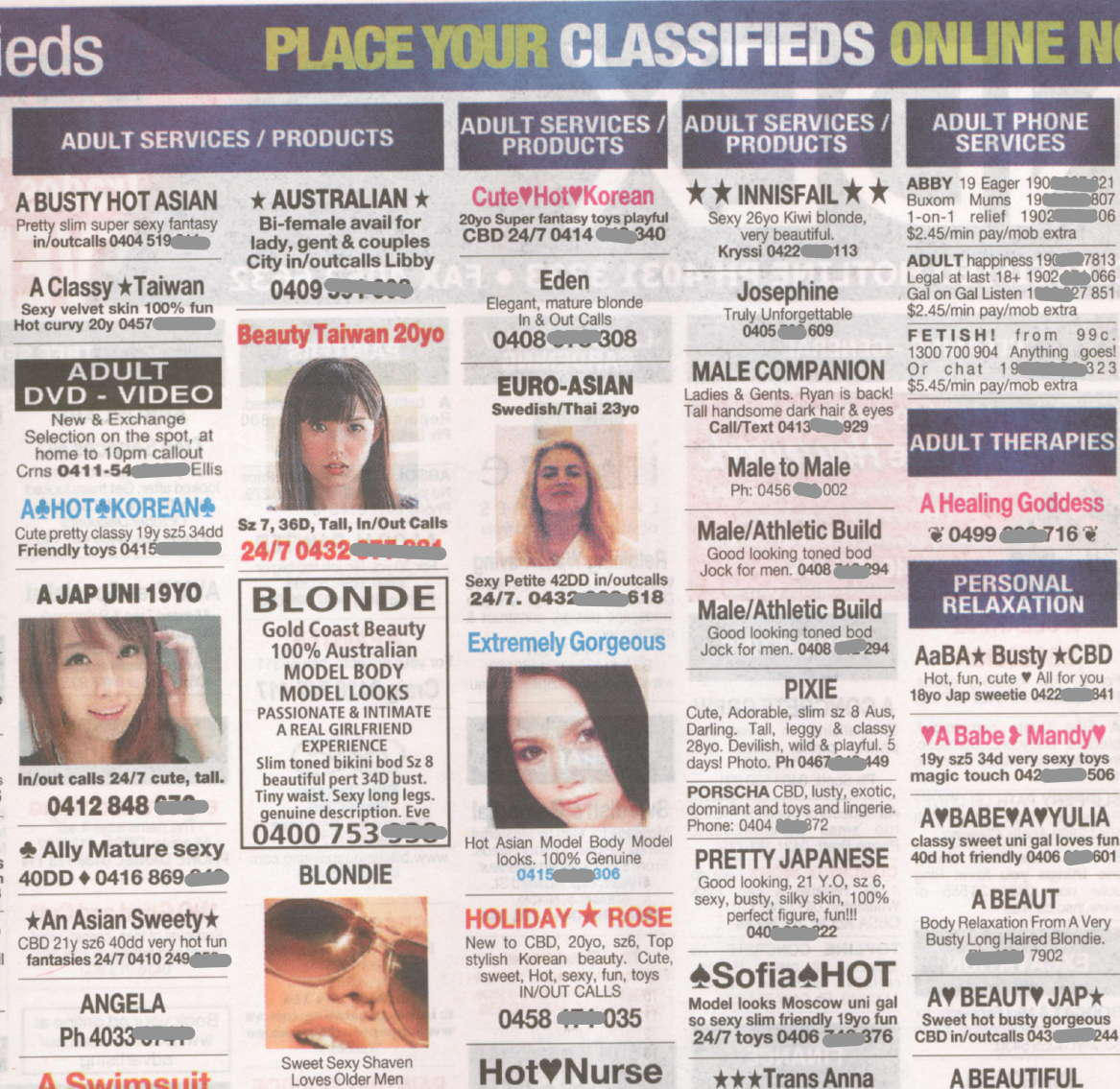 prostitute local personal classifieds Queensland