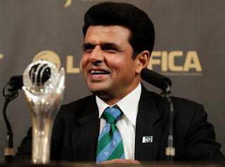 Aleem Dar with ICC Award