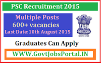 PSC Recruitment 2015