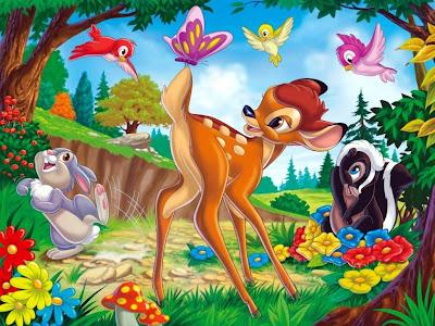 Bambi Friends Scene Animated Bambi Movie