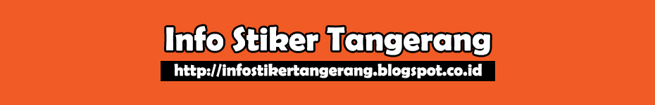 Info Stiker Tangerang