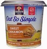 Quaker oat so simple sweet cinnamon