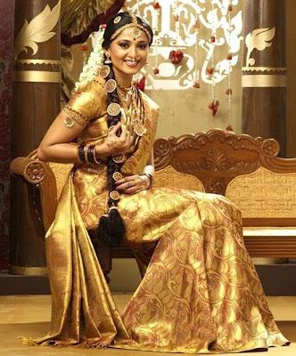 Anushka in Silk Saree stills