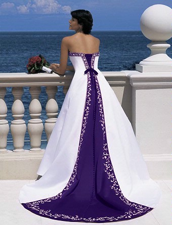 labels purple wedding dress wedding dress