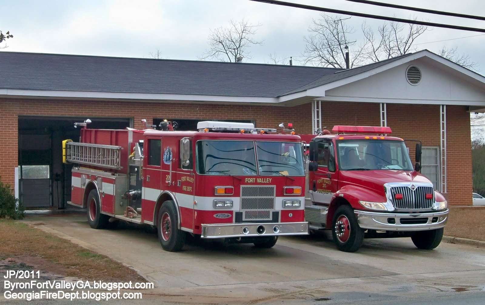 Albany Chevy Fire Dept. Trucks GA. FL. AL. Rescue Station Firemen ...