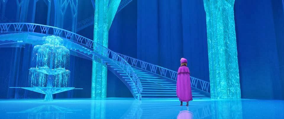 Frozen castle inside