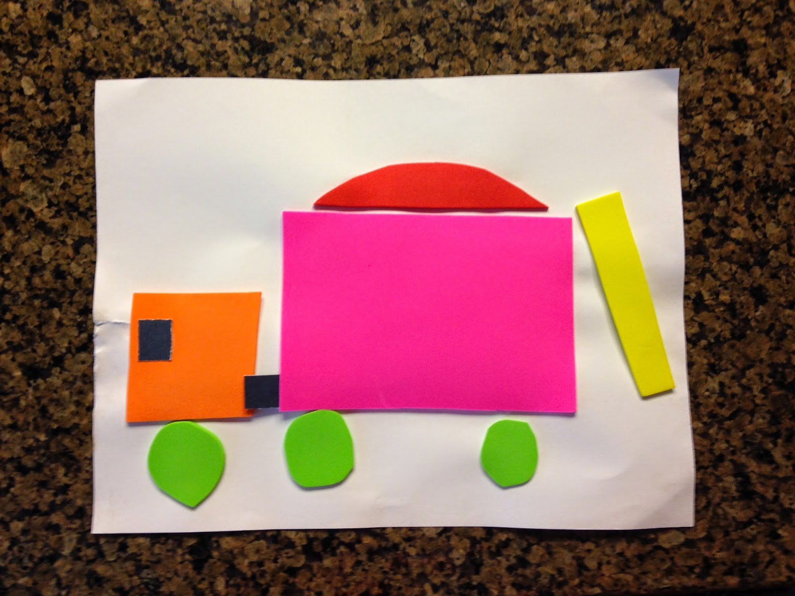 Dump Truck Foam Paper Craft
