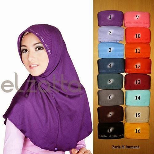 Jilbab Elzatta Model Terbaru Bergo Elzatta Zaria M Rumana Jilbab Elzatta 2015
