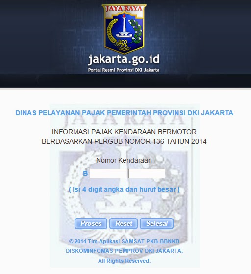 Kode Wilayah Samsat Cinere Depok Ciputat Balaraja dan Jakarta