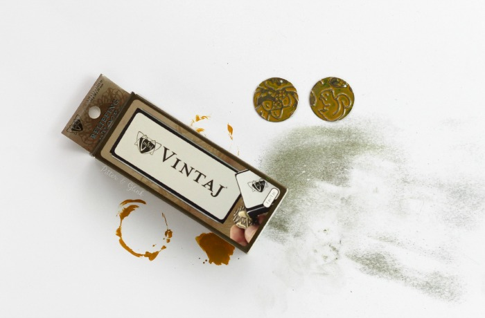 Making embossed designs pop using the Vintaj metal reliefing block. www.pitterandglink.com