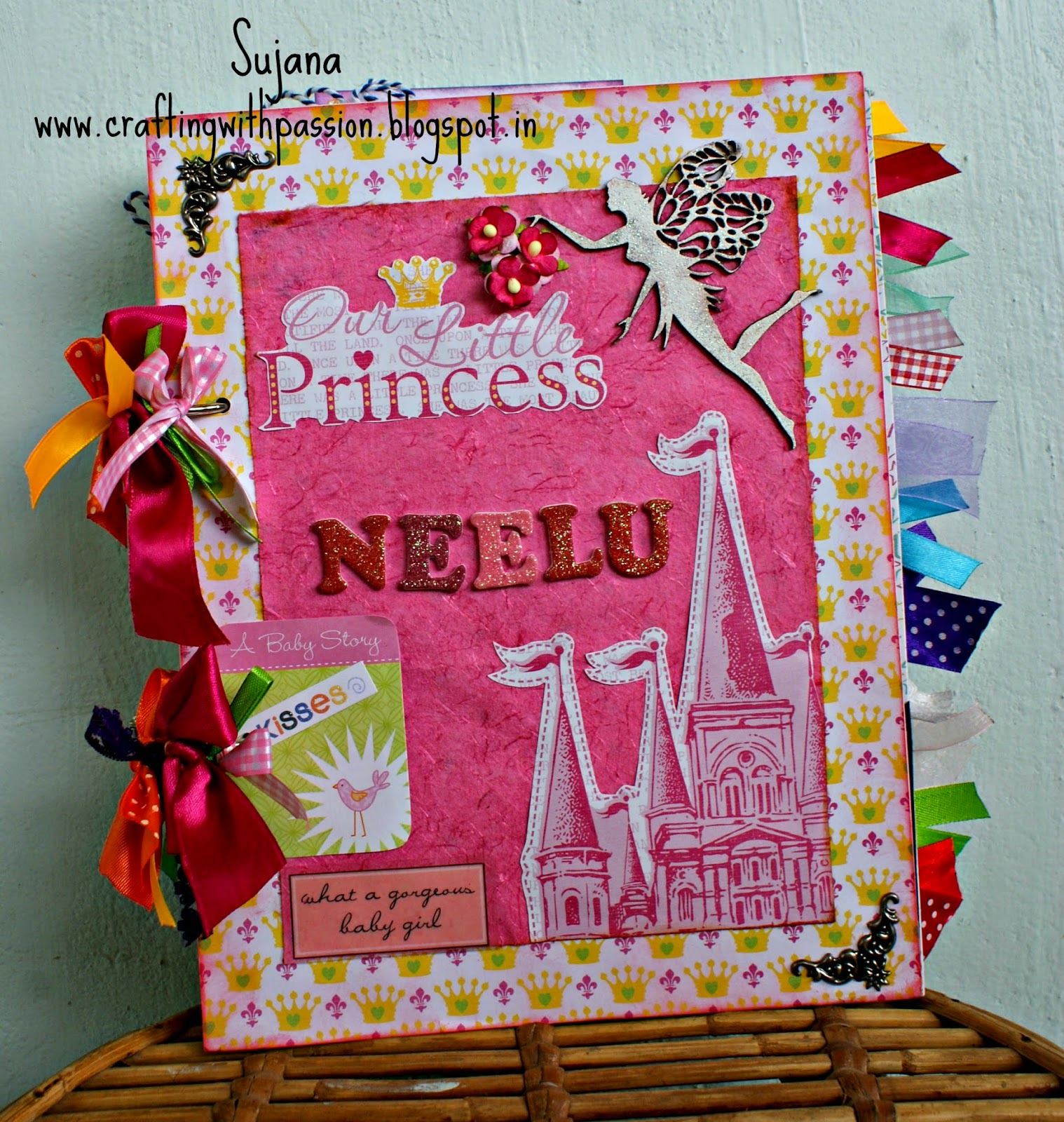 Crafting With Passion Baby Girl Scrapbook