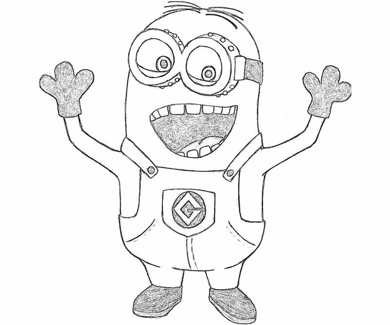 The Printable Despicable Me Coloring Drawing Free wallpaper