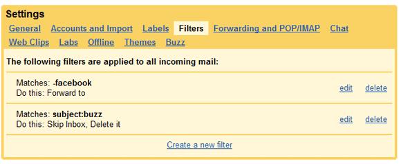 gmail filter settings