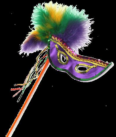 Máscara Carnaval PNG - Brilhantes e plumas BR