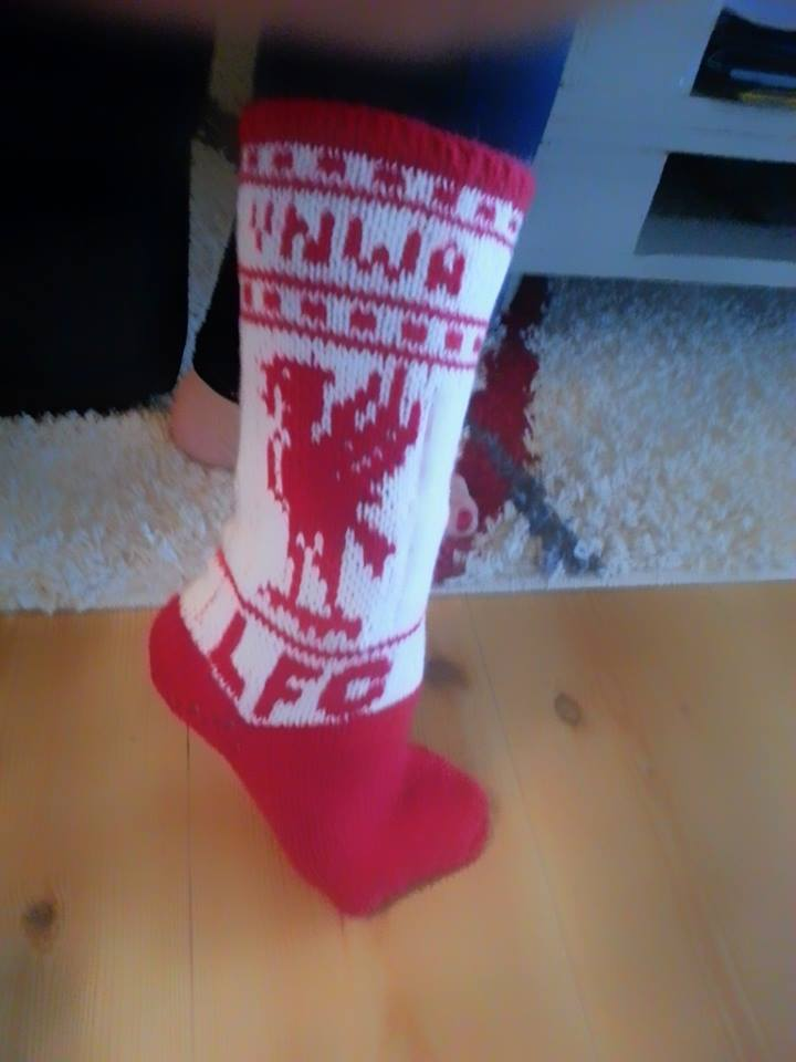 LFC sokk - designa av meg