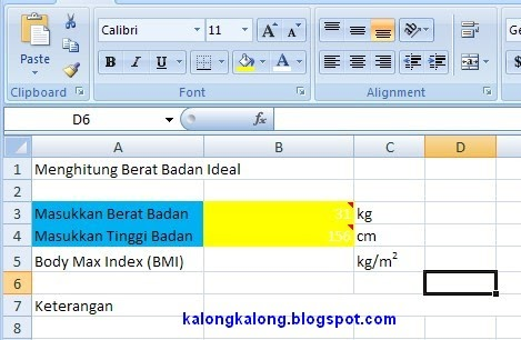 Program untuk menghitung kriteria berat badan dengan C#
