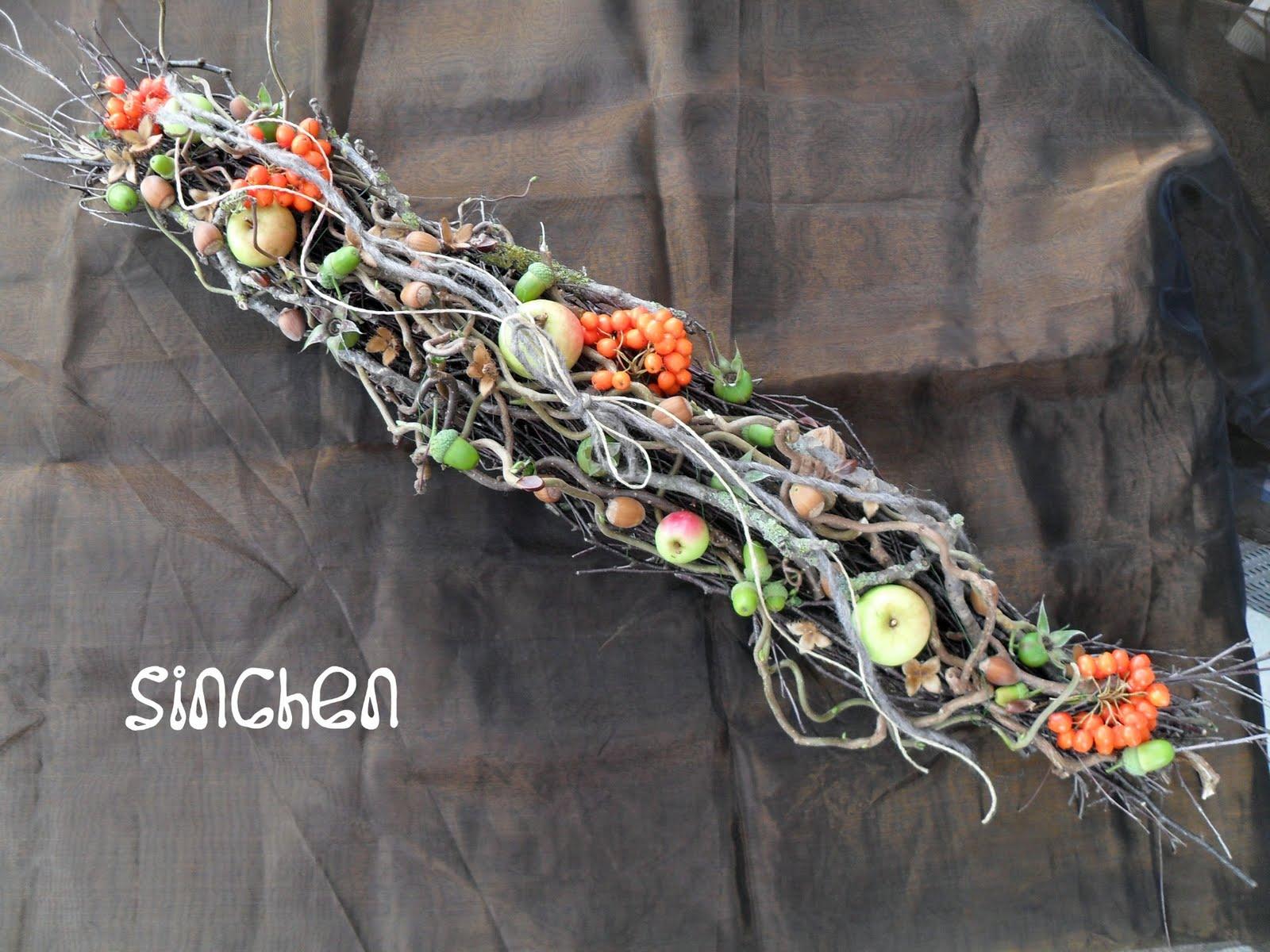 Sinchens roter Faden: Herbstbasteln