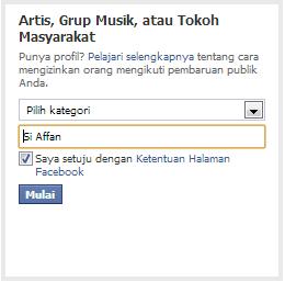 artis,kotak dialog,tutorial blogging,buat fan page