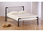 Birlea Faro Silver and Black Metal Bedstead