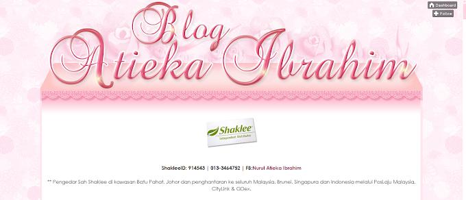 Tempahan Design Blog Atieka Ibrahim