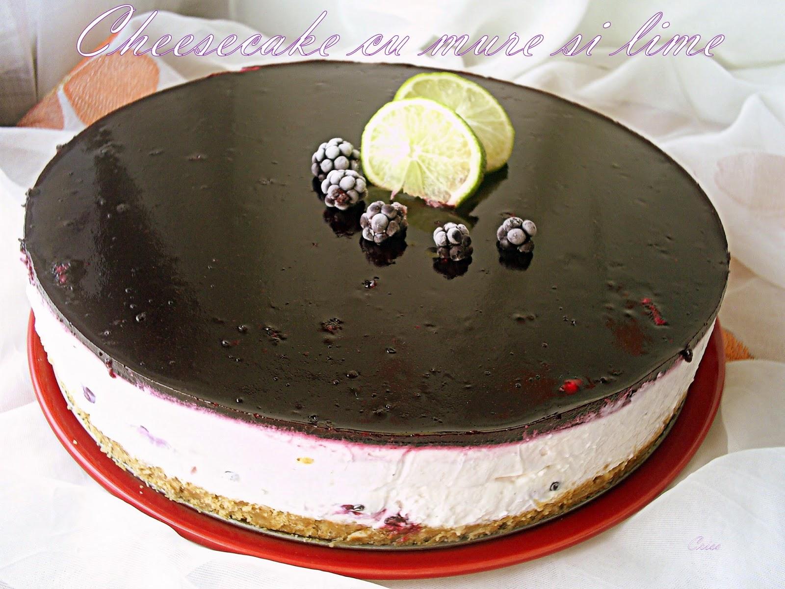 Cheese Cake Mure Chocolat Blanc
