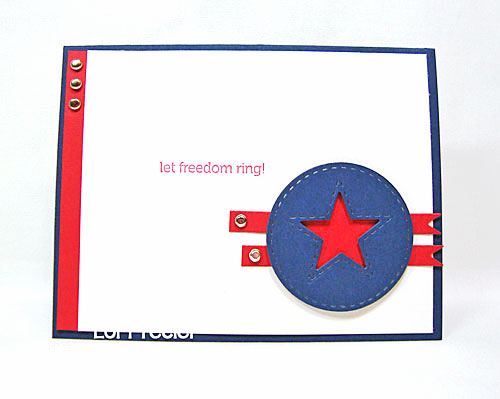 Let Freedom Ring card-designed by Lori Tecler/Inking Aloud-stamps from Papertrey Ink
