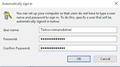 Windows 10 - Hướng dẫn bỏ qua màn hình đăng nhập, gỡ bỏ mật khẩu đăng nhập 3