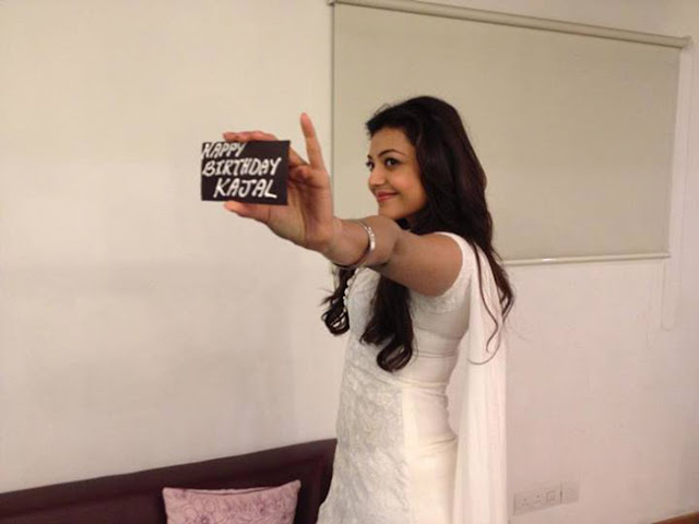 Birthday Kajal Name Cake Images : Kajal Aggarwal Birthday Celebrations - Cinema65.com