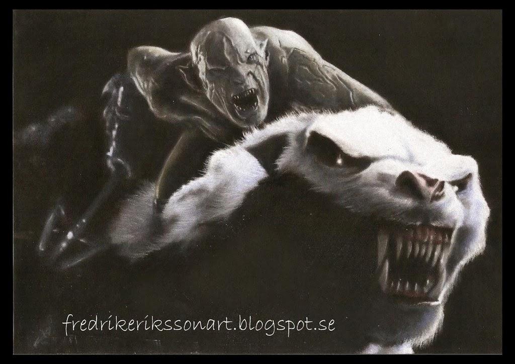 http://fredrikeriksson1.deviantart.com/art/Azog-the-pale-orc-on-his-warg-in-Bilbo-424824658