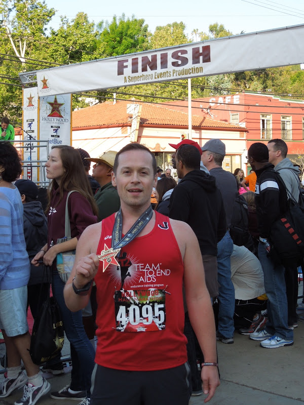 Hollywood Half Marathon Finish