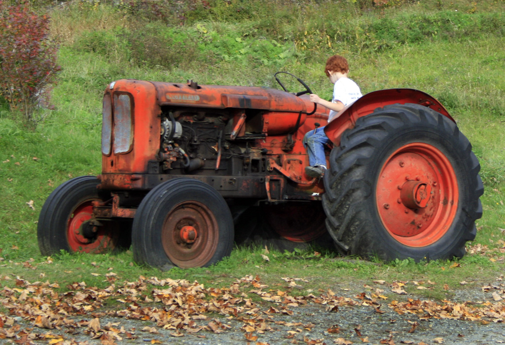 Boy On Tractor : Life in a canned ham october