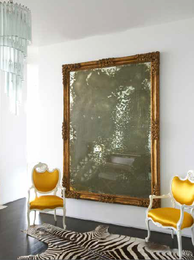 With the sabine coffee table from the jan showers collection - A Hollywood Glam Apartment By Jan Showers The Glam Pad