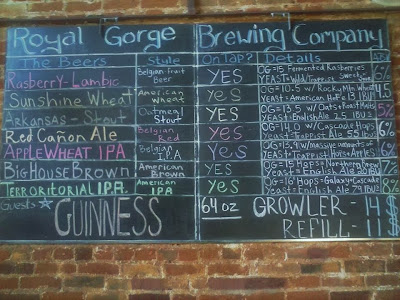 Royal Gorge Brewing tap list