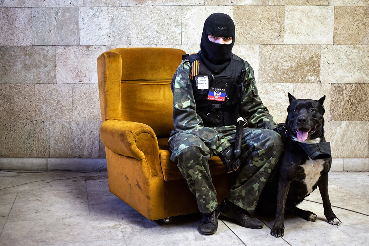 Ukraine Crisis: Marko Djurica's Portrait of Masked Pro-Russian Protester
