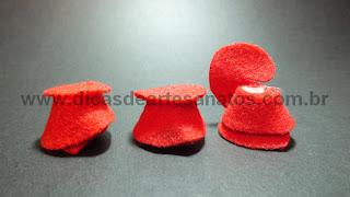 Rosinha de feltro para aplicações