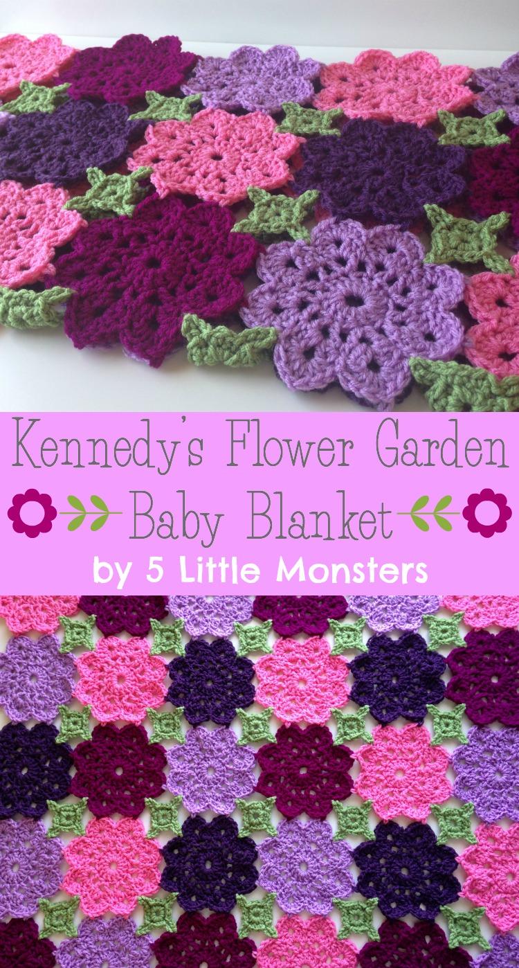 Kennedy's Flower Garden Crochet Baby Blanket