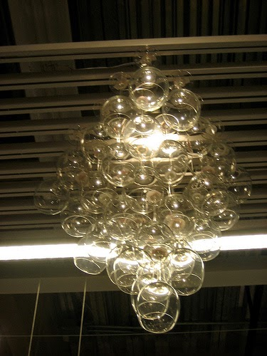 The Art Up Cycling Wine Glass Chandeliers Funky Cool